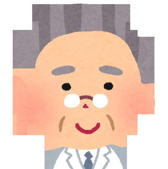 白髪交じりの高齢のベテラン医師