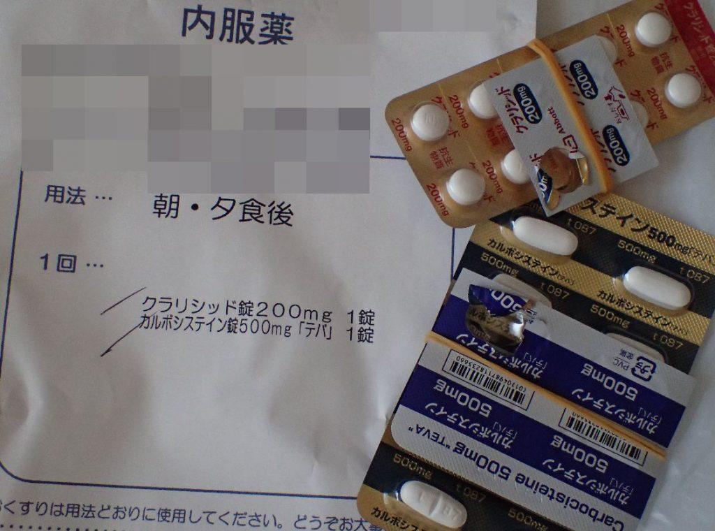 クラリシッド錠・カルボシステイン錠