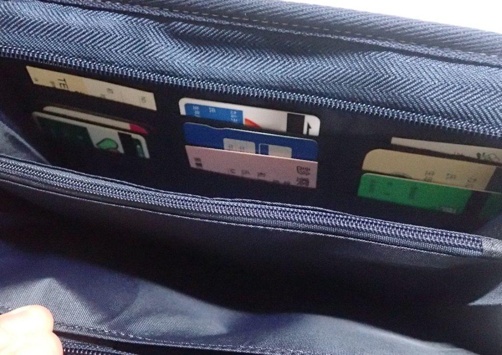 母子手帳ケースのカード収納ポケット