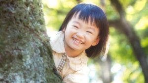 満面の笑みを見せてくれる少女